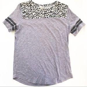 Victoria Secret Leopard Print Shirt Top M PINK